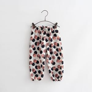 Picture of Stylish Polka Dots Long Pants with Ribbon