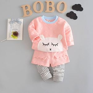 Picture of Cute Bear Long Sleeve Tee and Pants Set