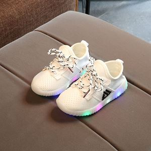 Picture of Stylish AD Yellow-Green Unisex Kids Lightning Sneakers (Big)