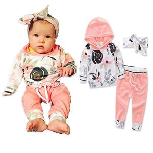 Picture of Floral Design Baby Casual Long Sleeve Set Two-Pieces
