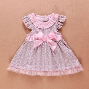 Picture of Baby Girl Sleeve Polka Dots Dress with Ribbon