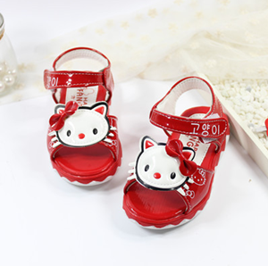 Picture of Red Kitten Kids Girls Sandal Shoes