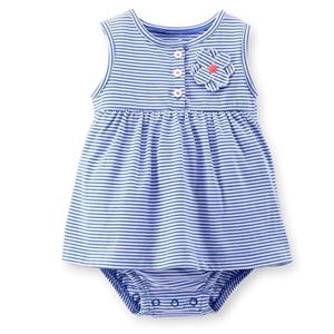 Picture of Adorable Sleeveless Patterned Carter's Romper Suit