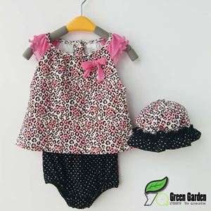 Picture of Stylish Cute Baby Girl Sleeveless 3 Pieces Set