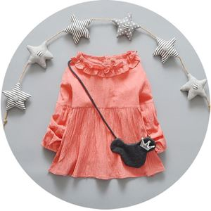Picture of Longsleeve Dress with Collar with Minnie Bag