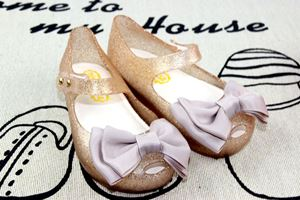 Picture of Cute Kids Girls Ribbon Jelly Shoes