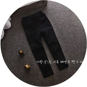Picture of Trendy Solid Black Long Pants Legging for Girls