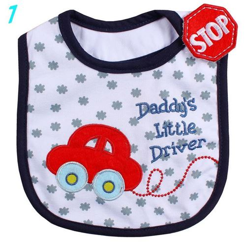 Picture of Kids Baby Infant Feeding Head Scarf Towel Bib