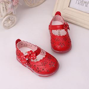 Picture of Cute Red Flower Baby Shoes with lighting