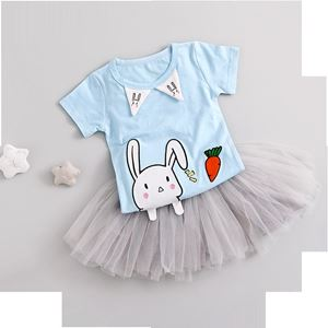 Picture of Adorable Rabbit Tee with Skirt Girl Set