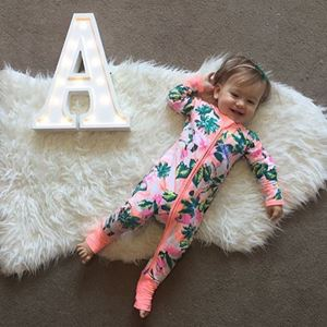 Picture of Stylist Adorable Floral Baby Zip Jump Suit