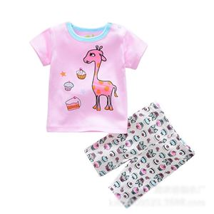 Picture of Giraffe Short Sleeve Baby Casual Clothing Set