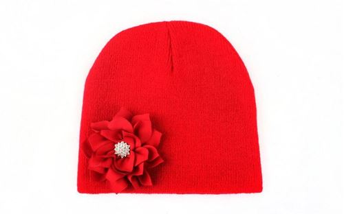 Picture of Adorable Hat with Big Flower for Baby Girl Toddler