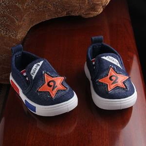 Picture of Trendy Denim Baby Slip On Shoes For Kids