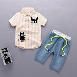 Picture of Cuddly Kitten Stripe Tee and Pants for Boy