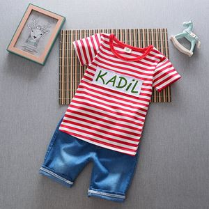 Picture of Fashion Stripe Tee and Jeans for Boy Set