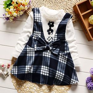 Picture of Stylist 2 Pieces Girl Long Sleeve with Dress Set
