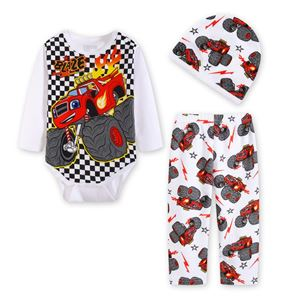 Picture of Cool The Car Baby Romper & Pant With Hat