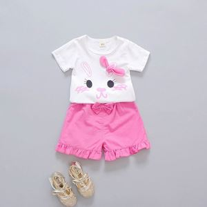 Picture of Ribbon Rabbit shirt with Rose Pink Pants Set