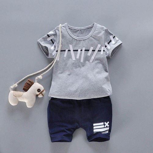 Picture of Fashionable Children Short Sleeve Suit Clothing Set