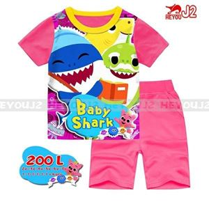 Picture of J2 Baby Shark Casual Wear with Short Pant (2-7Y)