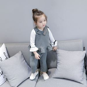 Picture of Korea Stylist Girl Sleeveless Suit Two-Piece Set
