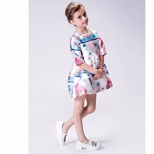 Picture of Pretty Europe Adorable Printed Dress For Girl