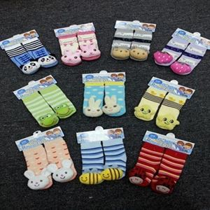 Picture of Lovely Assorted Cartoon Design Cozy Baby Infant Sock