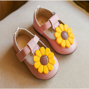 Picture of Peach Baby Toddler Girls Cute Flower Shoe