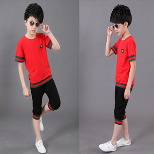 Picture of Fashion Unisex Short Sleeve Shirt And Pants Two-Piece Suit