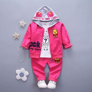 Picture of The Pooh Bear Girl Long Sleeved Sweater Shirt with Pant Three-Pieces
