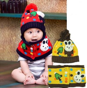 Picture of Adorable Apple Tree Unisex Baby Hat with Scarf