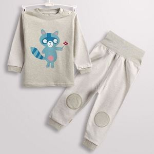 Picture of Civet Cats with Long Pants Baby Pyjamas Sleepwear Set