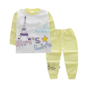 Picture of Eiffel Tower with Long Pants Pyjamas Set