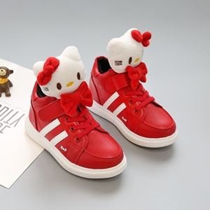 Picture of 3D Cute Hello Kitty PU Boot for Toddler And Kids Shoes