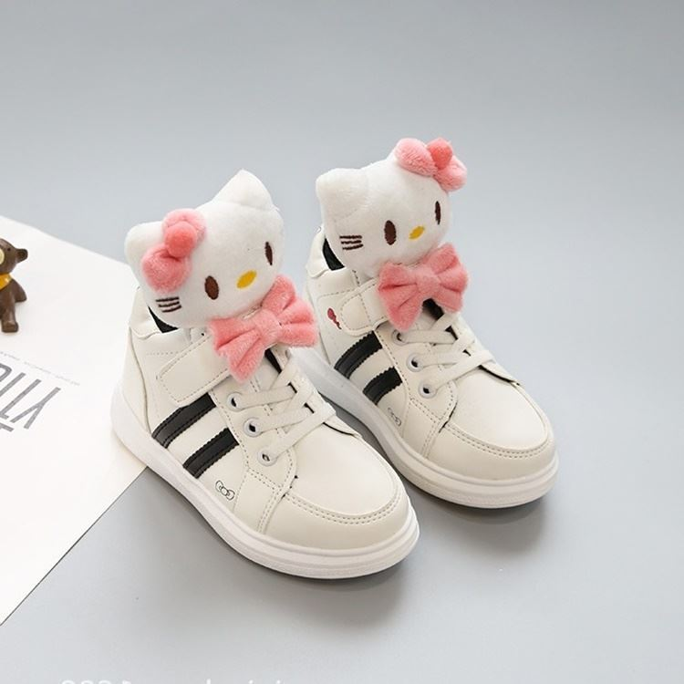 3D Cute Hello Kitty PU Boot for Toddler