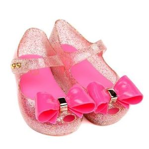 Picture of Big Ribbon Lovely Girl Jelly Shoes For Kids