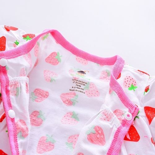 Picture of Adorable Short Sleeve Ladybird Printed Baby Romper