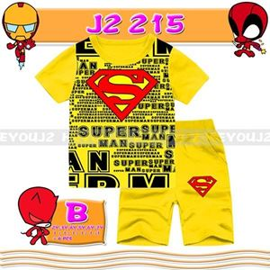 Picture of 2-Piece Superman Printed Short Sleeve Casual Wear Clothing Set (2-7y)