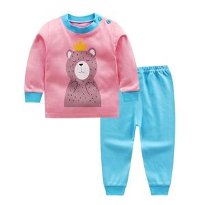 Picture of Pink Bear Pattern Top With Long Pant Pyjamas Sleepwear Set