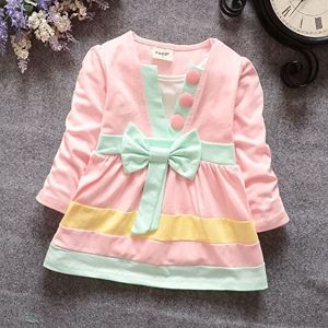 Picture of Sweet Longsleeve Dress with Ribbon for Girl
