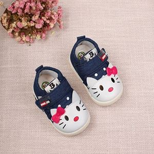 Picture of Casual Kitten Applique Canvas Shoes With Light for Toddler Girl