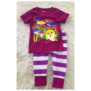 Picture of Baby Shark Tee with Stripe Pants Set For Girl