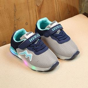 Picture of Fashionable M LED Light Mesh Velcro Sports Shoes or Toddler Girl and Girl