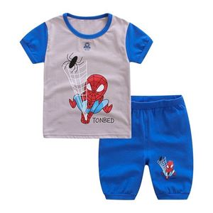 Picture of Two-Piece Spiderman Printed Short Sleeve Casual Wear Clothing Set