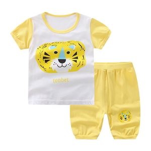 Picture of Two-Piece Tiger Printed Short Sleeve Casual Wear Clothing Set