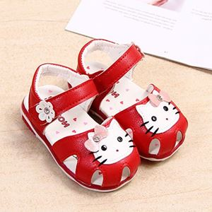 Picture of Kitten Flower Decor Sandals With Light For Baby Girl