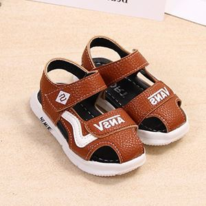 Picture of Solid Color Velcro Summer Sandals For Baby Boy