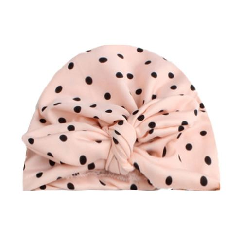 Picture of Stylish Assorted Pokodot Fashion Rabbit Turban Hat For Baby Girl