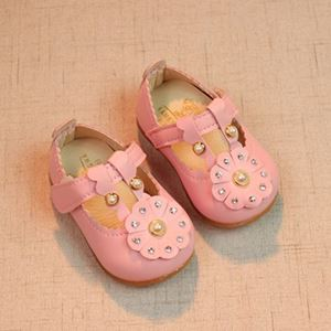 Picture of Pearl Decor Soft Bottom Sandals For Baby Girl